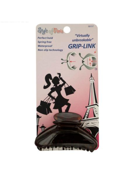 Medium Grip-Link Claw Hair Clip (Available in a pack of 24) - aomega-products