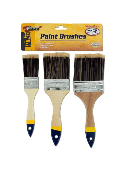Paint Brush Set with Wood Handles (Available in a pack of 10) - aomega-products