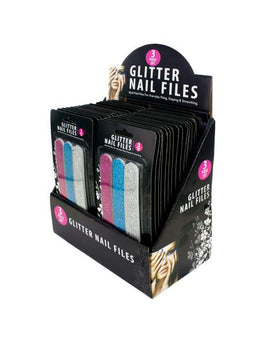 Glitter Nail File Set Counter Top Display (Available in a pack of 36) - aomega-products
