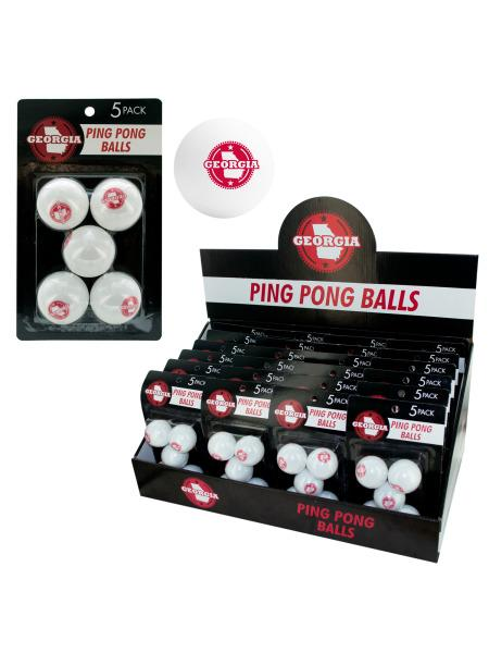 Georgia Ping Pong Balls Countertop Display (Available in a pack of 24) - aomega-products