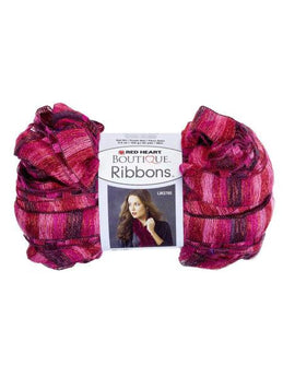 Metallic Pink & Red Rosebud Ribbons Yarn (Available in a pack of 24) - aomega-products
