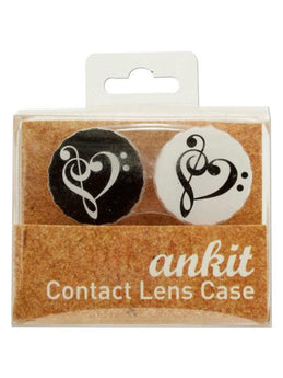 Heart Treble Print Contact Lens Case (Available in a pack of 24) - aomega-products