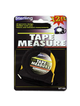 Tape Measure with Rubber Outer Grip (Available in a pack of 24) - aomega-products