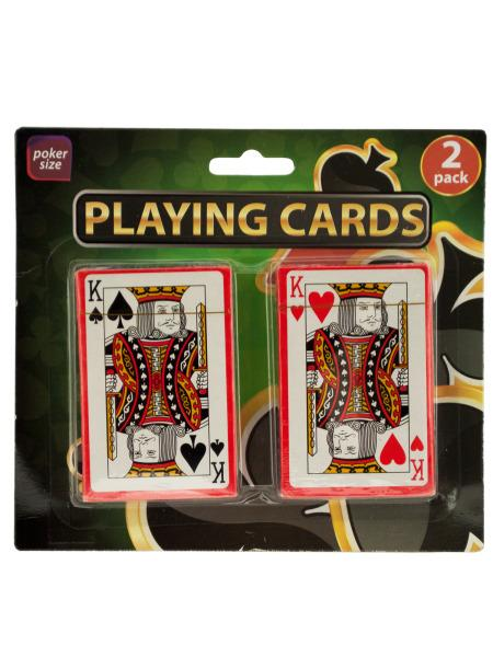 Plastic Coated Poker Size Playing Cards Set (Available in a pack of 24) - aomega-products