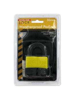 Laminated Weatherproof Padlock with Keys (Available in a pack of 4) - aomega-products