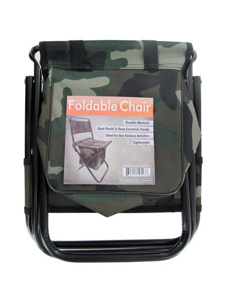 Camouflage Foldable Chair with Zipper Gear Pouch (Available in a pack of 4) - aomega-products