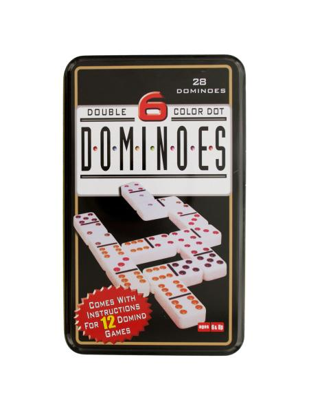 Double 6 Color Dot Dominoes Game Set (Available in a pack of 4) - aomega-products