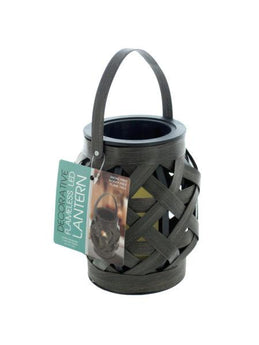 Decorative Basket Weave Lantern with LED Candle (Available in a pack of 4) - aomega-products