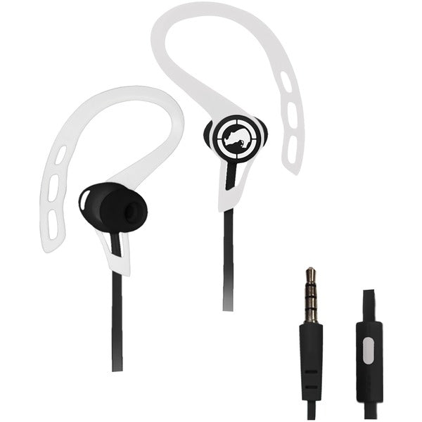 Ecko Unltd. EKU-RSH-WHT Rush Sport Earbuds with Microphone (White) - aomega-products