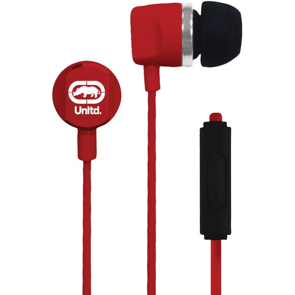 Ecko Unltd. EKU-RYC-RD Royce Earbuds with Microphone (Red) - aomega-products
