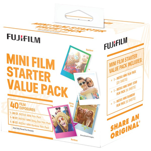 Fujifilm 600017191 instax mini Film Pack (Starter Value Pack) - aomega-products