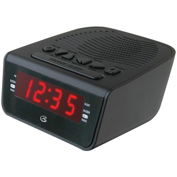 "GPX C224B .6"" LED AM-FM Alarm Clock - aomega-products"