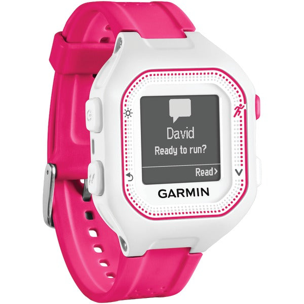 Garmin 010-01353-21 Forerunner 25 GPS Running Watch (Small; White-Pink) - aomega-products