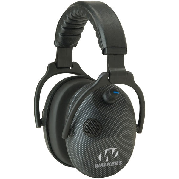 Walker's Game Ear GWP-AMCARB Alpha Power Muffs with Microphone (Carbon Graphite) - aomega-products