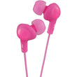 JVC HAFR6P Gumy Plus Earbuds with Remote & Microphone (Pink) - aomega-products