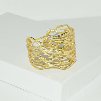 Yael Openwork Ring - aomega-products