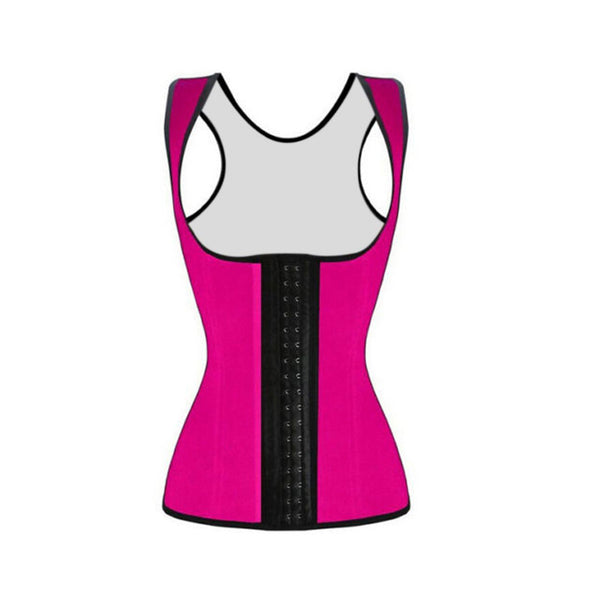 Women's Vest Style Latex Underbust Corset Waist Trainer Cincher Body Shaper Shapewear - aomega-products