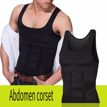 Men's Body Shapers Sculpting Vest Slim N Lift Weight Loss Shirt Compression Muscle Tank Shapewear Underwear For Men Sexy Shape - aomega-products