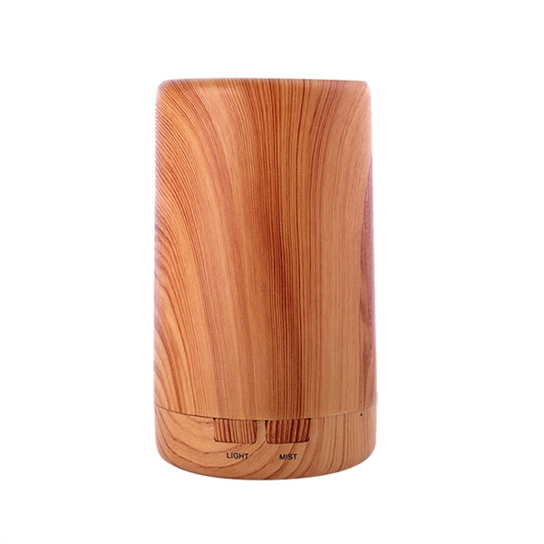 Electric Aroma Essential Oil Diffuser Ultrasonic Air Humidifier Grain Aromatherapy Essential Oil Cool Mist Humidifier (Light Wood Grain) - aomega-products