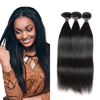Peruvian Human Virgin Straight Hair 3 Bundles Unprocessed Human Hair Weave - aomega-products
