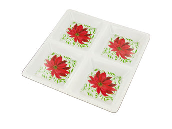Sectioned Poinsettia Party Tray - aomega-products