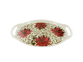 Poinsettia Serving Tray Set - aomega-products