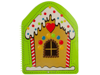 Gingerbread House Spiral Notebook - aomega-products