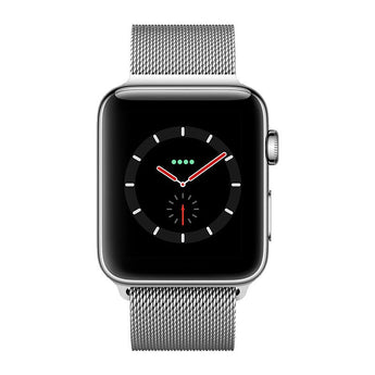 New Apple Watch Series 3 GPS Cellular Stainless Steel 42mm Milanese Loop Silver - aomega-products