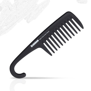Black wide tooth hair comb