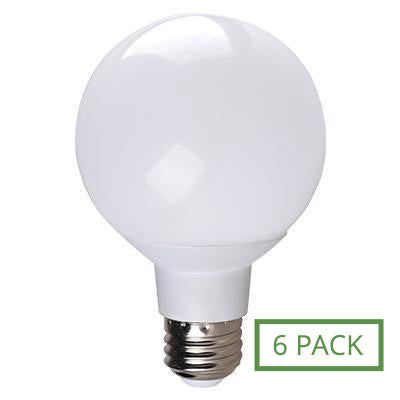 G25 Globe Simply Conserve 6w Dimmable Warm White Indoor (6 pack)