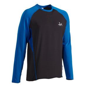 Men's long sleeve microgrid layering top for outdoor sports