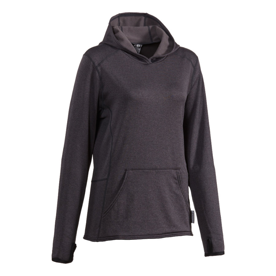 Women's technical microgrid fleece hoodie