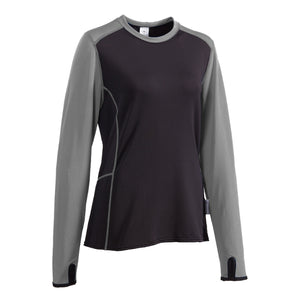 Women's long sleeve microgrid fleece base layer