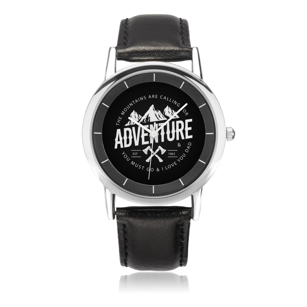 Father's day Gift 2020, Adventurist Dad Steel Watch Personalized Gift For Dad