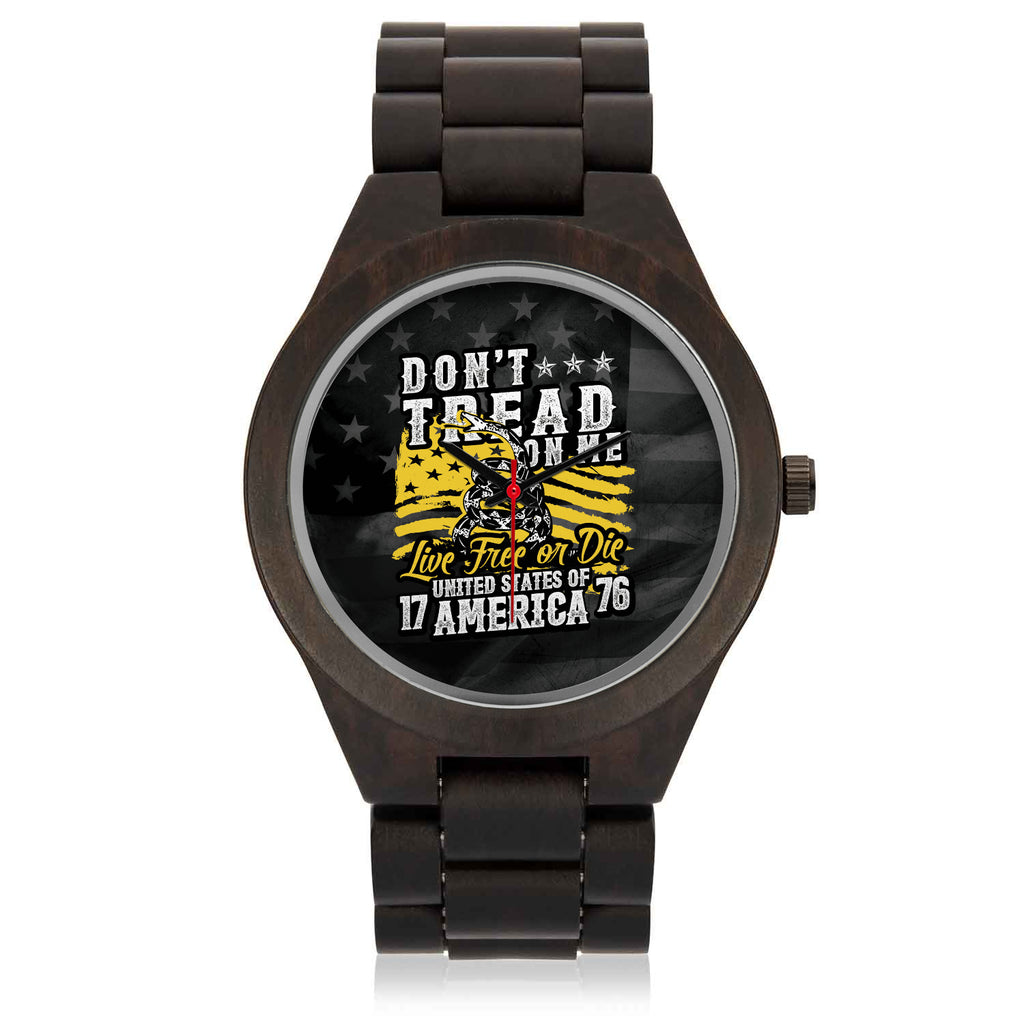 Father's Day Gift 2020, Custom Wooden America Wristwatch Personalized Gift For Dad