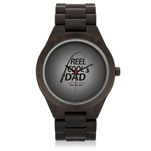 Father's Day Gift 2020, Custom Wooden Fishing Dad Wristwatch Personalized Gift For Dad