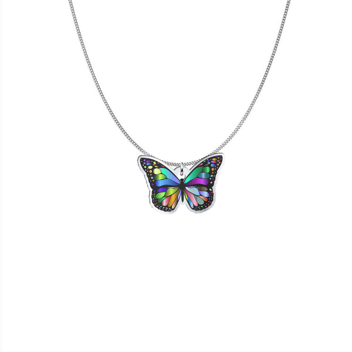 Amazing Colorful  Butterfly Pendant!
