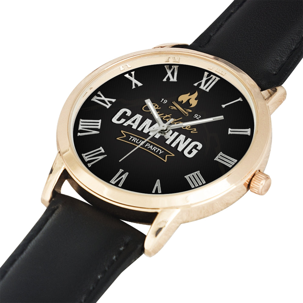 Father's Day Gift 2020, Amazing Gold Water Resistance Wrist Watch Personalized Gift For Dad