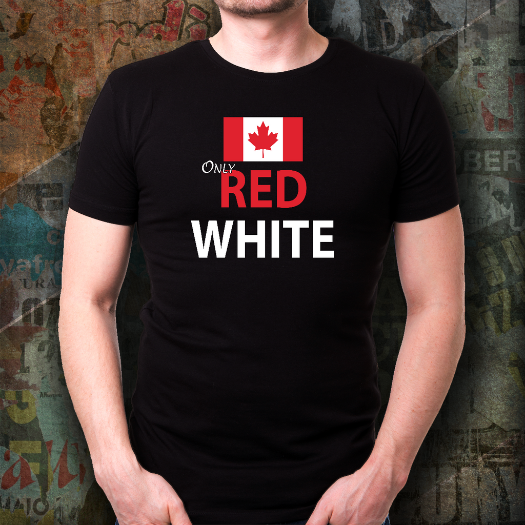 Father's Day Gift 2020, Only Red Canada Day T-shirt Personalized Gift For Dad
