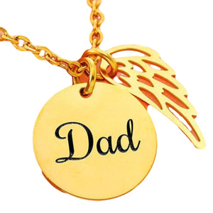 My Lovely Mom Wing Love Pendant Necklace Gift For Moms!