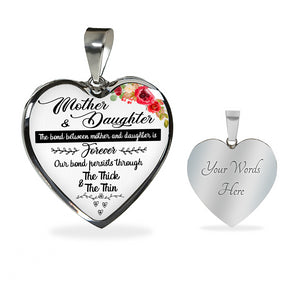 Mother and Daughter Love Pendant!