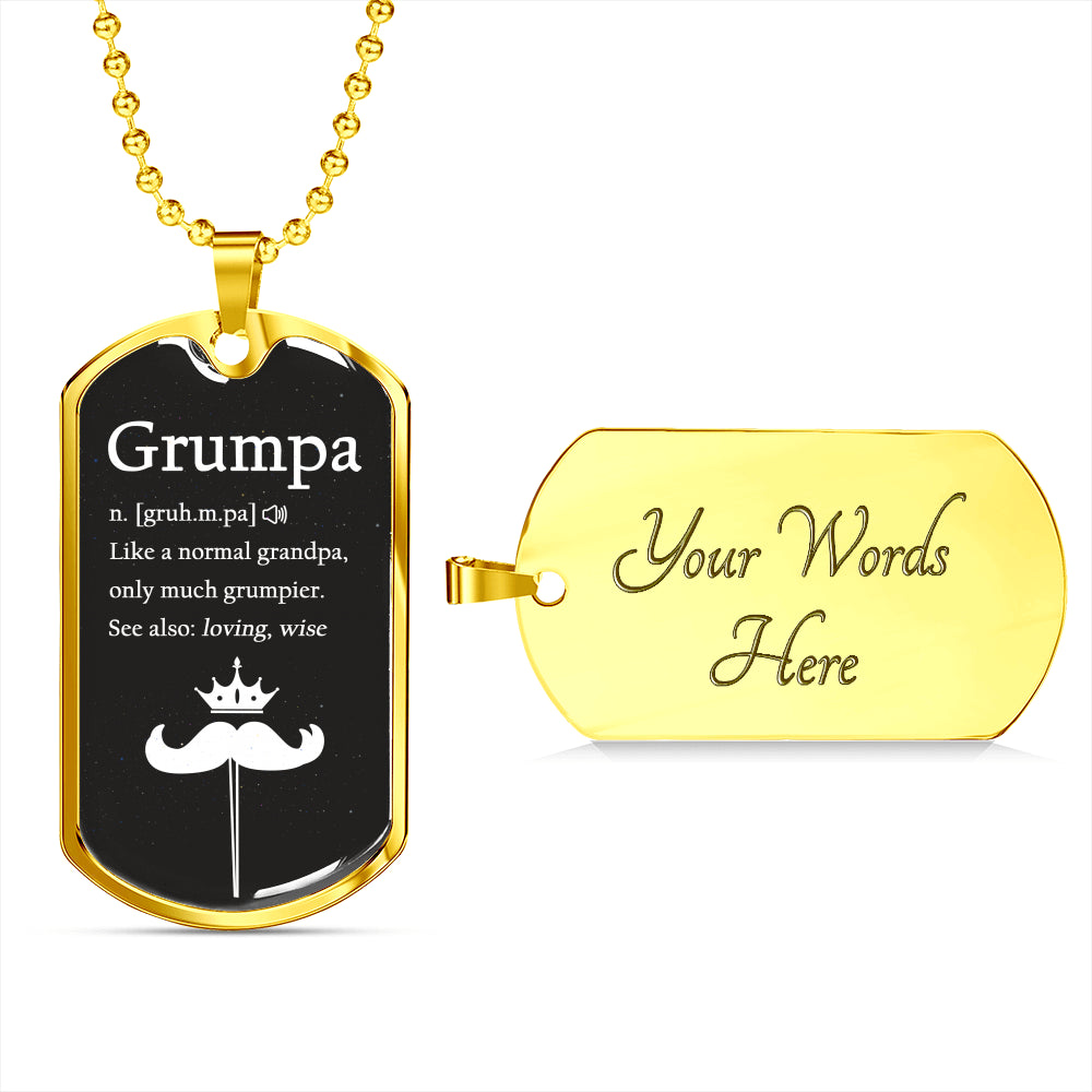 Grandpa We Love You Luxury Gift Tag For Grandfathers!