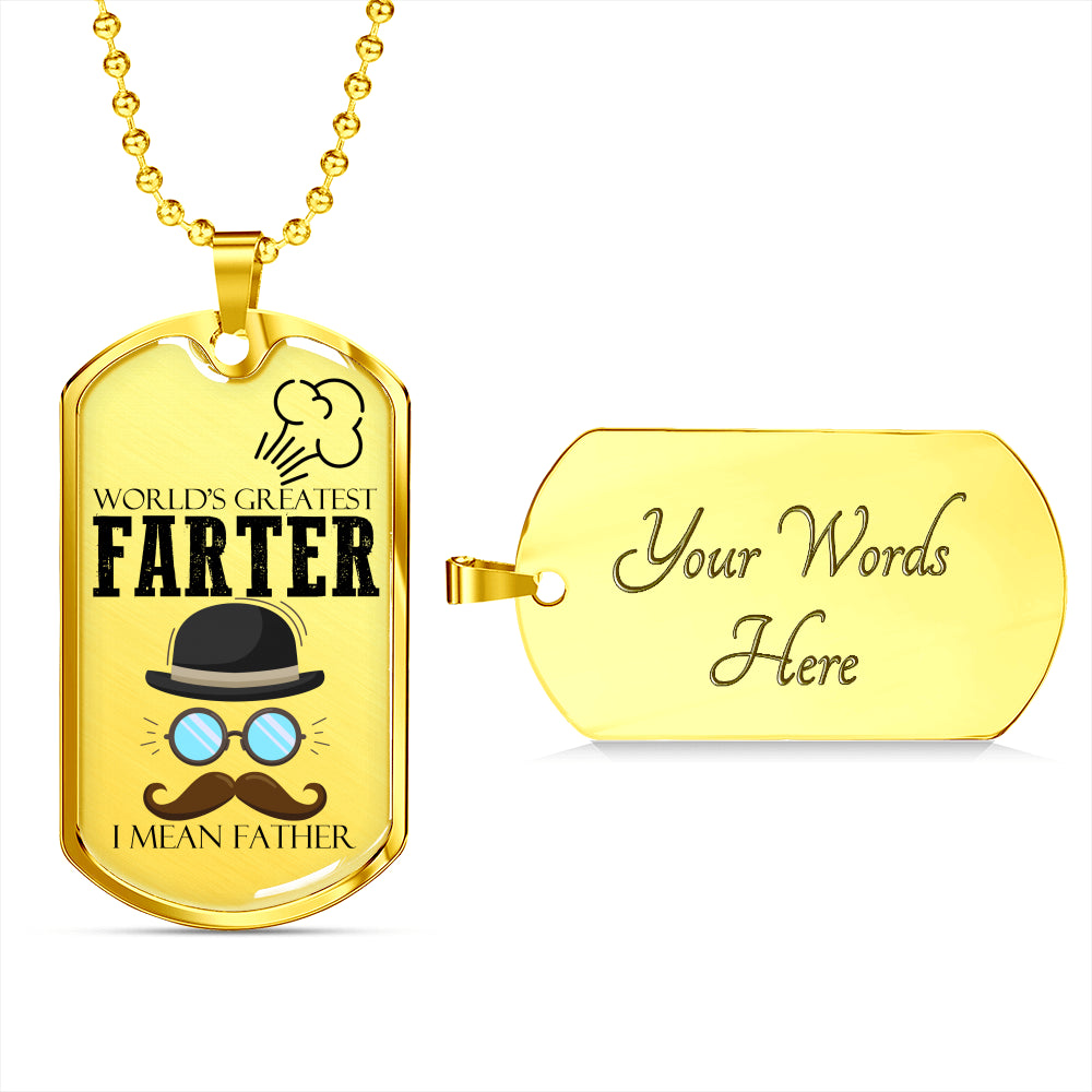 World's Greatest Father Luxury Gift Tag For Fathers!