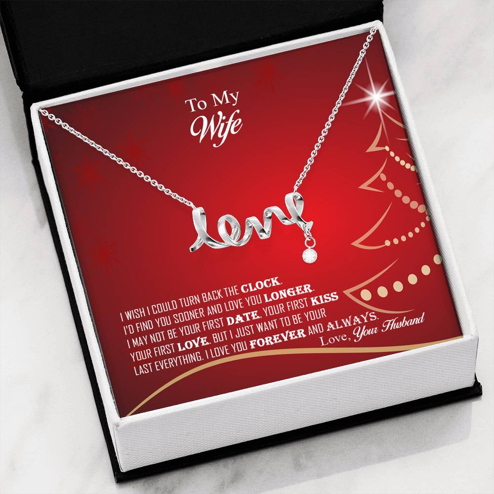 Amazing Scripted Love Pendant Necklace Christmas Gift For Wife