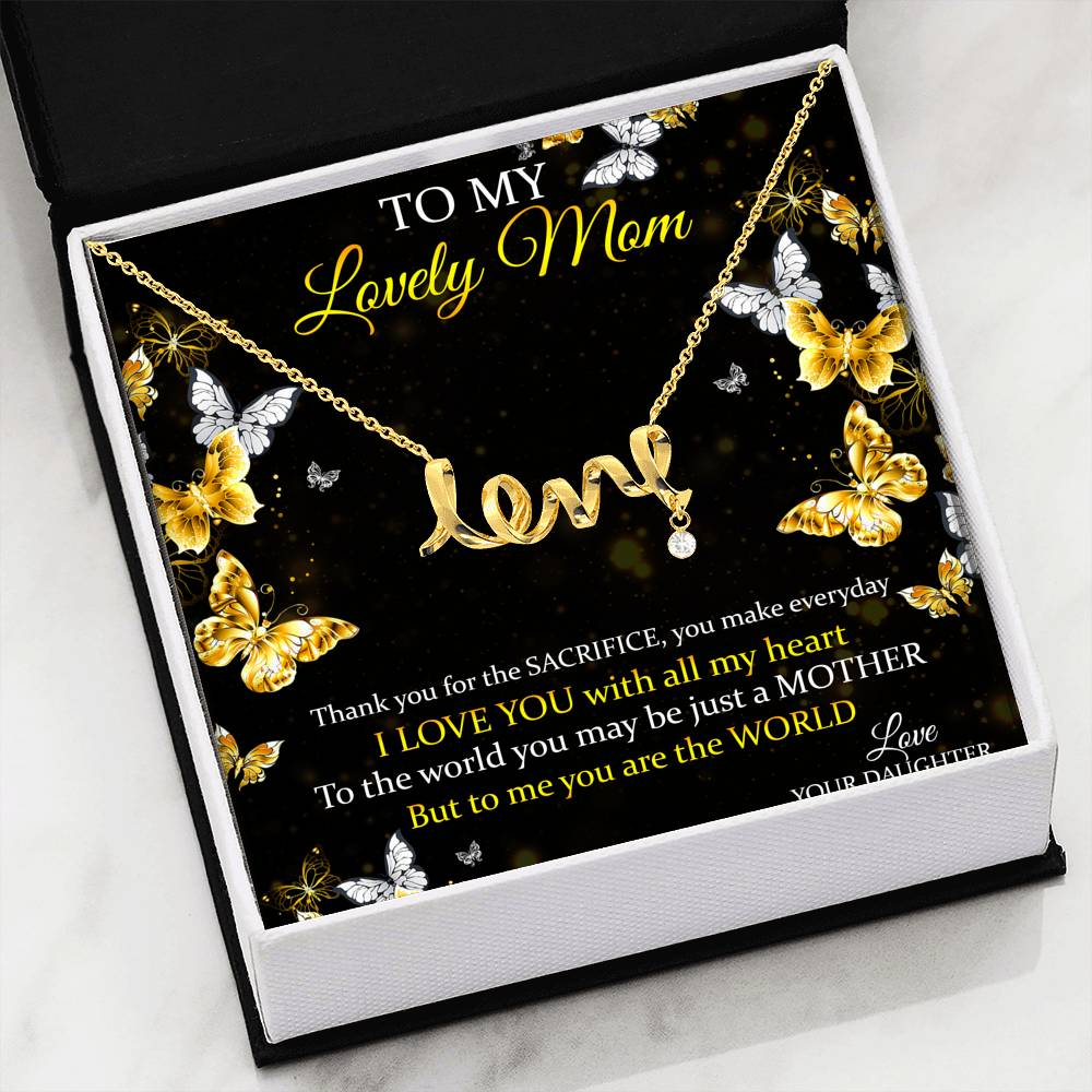 Scripted Love Mothers Day Pendant!
