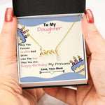 Amazing Scripted Love Pendant Necklace Gift Form Mom to Daughter!