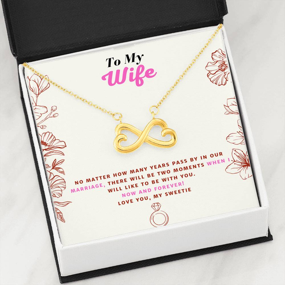 Amazing Anniversary Infinite Love Pendant Necklace Gift For Wife!