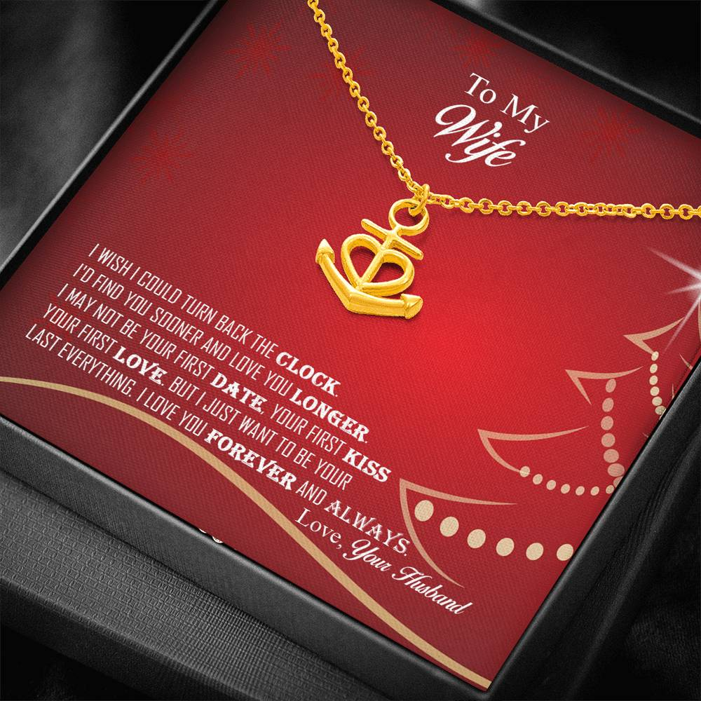 Amazing Anchor Love Pendant Necklace Christmas Gift For Wife!