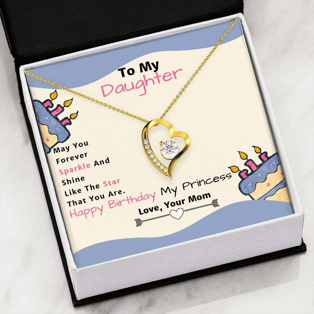 Amazing Forever Love Pendant Necklace Gift From Mom to Daughter!