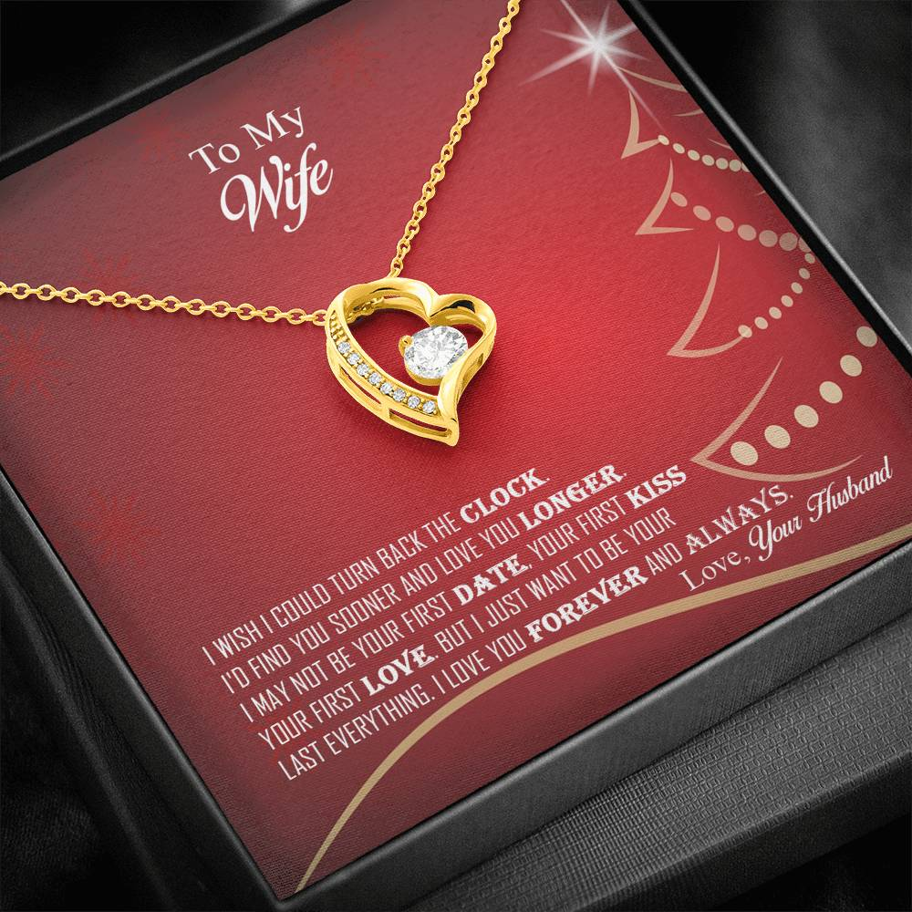 Amazing Forever Love Pendant Necklace Christmas Gift For Wife